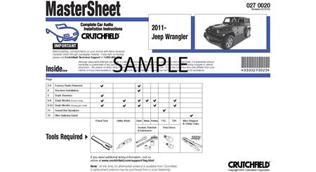 Crutchfield Vehicle-specific Instructions