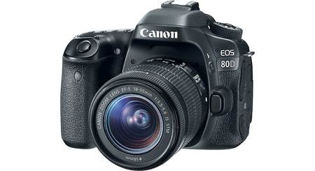 Canon EOS 80D Kit 24 2-megapixel DSLR with 18-55mm zoom lens and Wi