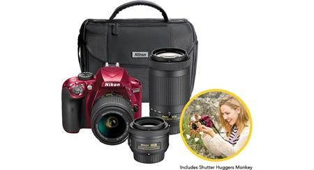 Nikon D3400 Triple Lens Parent's Kit
