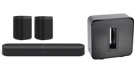 Sonos Beam 5.1 Home Theater System with Sonos One SL Speakers