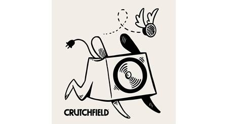 Crutchfield Woofer and Tweeter Sticker