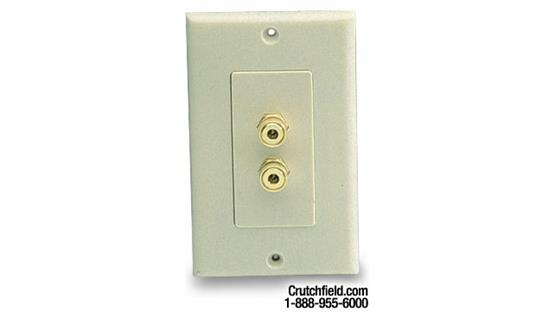 Niles® Audio 2-post Wall Outlets for Speaker Wires Bone