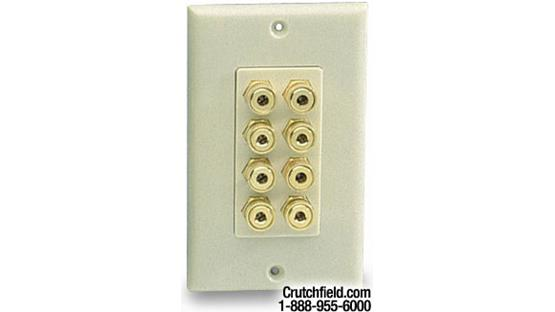 Niles® Audio 8-post Wall Outlets for Speaker Wires Bone