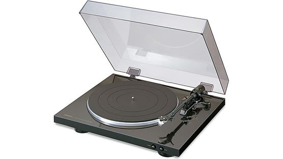 Denon DP-300F Shown with included dust cover
