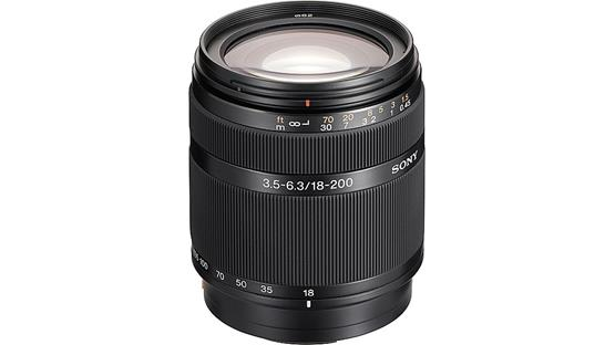 Sony SAL 18200 Lens Front