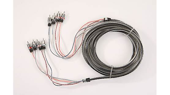 StreetWires ZeroNoise® 9 Series 4-channel Patch Cables Front