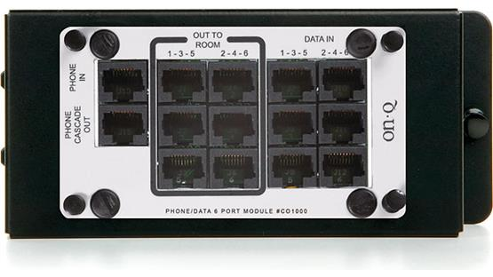 On-Q 6-port Phone/Data Module Front