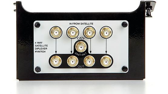 On-Q 1 x 4 Satellite Distribution Module Front
