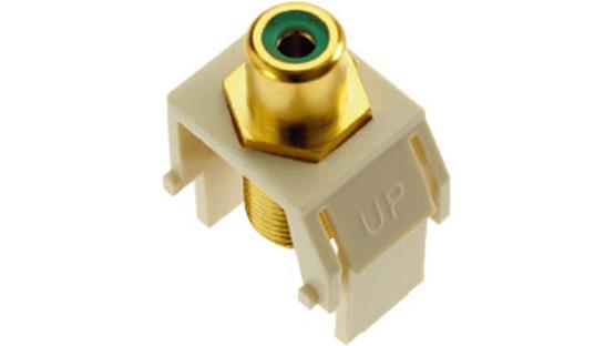 On-Q RCA to F-Type Keystone Connector Green