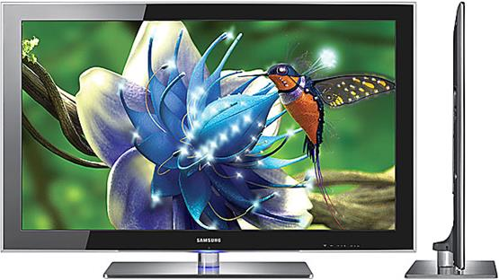 Samsung UN55B8000 LED TV Front and side views