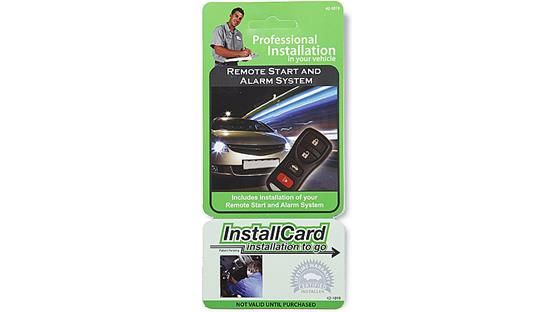 InstallCard: Security System with Remote Start Front