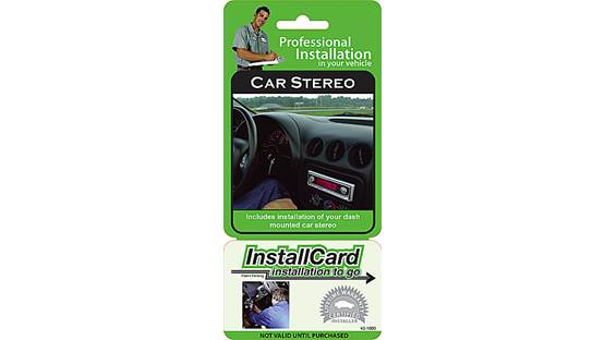 InstallCard: In-dash Stereo Front