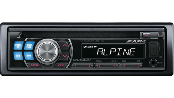 alpine cde 100 cd receiver at. Black Bedroom Furniture Sets. Home Design Ideas