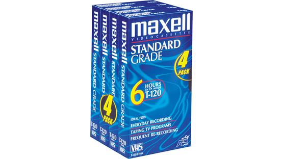 Maxell Standard-Grade VHS Tape Front