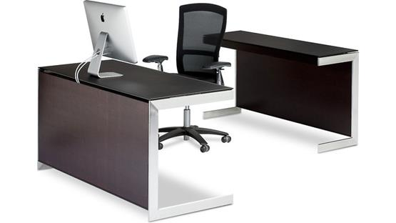 BDI Sequel 6008 Back Panel Espresso finish (desk, return, and office supplies not included)