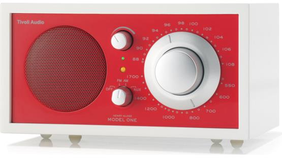 Tivoli Audio Frost White Model One Frost White and Red