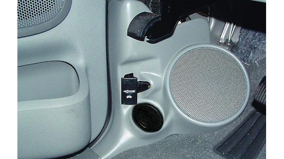 Q-Forms Kick Panel Enclosures Light gray shown (component speakers not included)