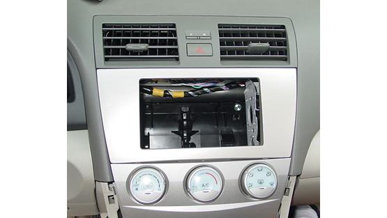 Toyota Camry In-dash Receiver Kit Kit installed