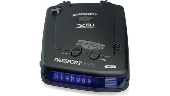 Escort Passport 8500 X50 Blue display