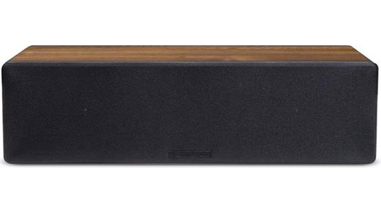 Cambridge Audio S50 Shown with grille (Dark Oak finish)