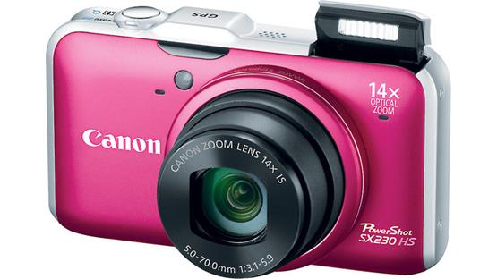 Canon PowerShot SX230 HS Front - Red