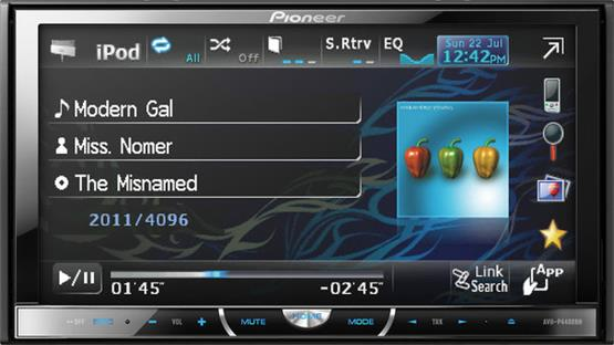 Pioneer AVH-P4400BH Front