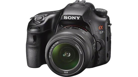 Sony Alpha SLT-A57 Kit Front