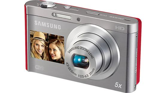 Samsung DV300F Front (Silver/Red)