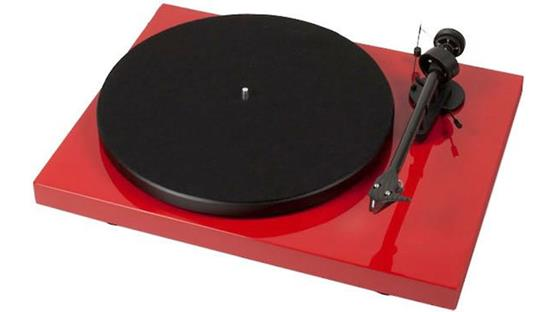 Pro-Ject Debut Carbon Gloss Red (dust cover included, not shown)