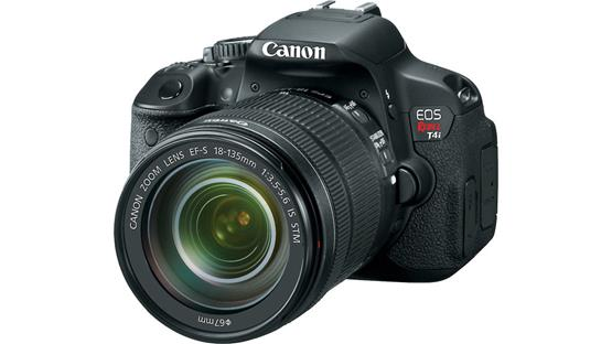 Canon EOS Rebel T4i Kit with 18-135mm Lens Front