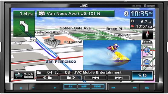 JVC KW-NT700 Front