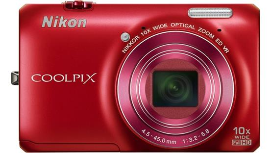 Nikon Coolpix S6300 Front - Red
