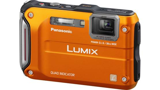 Panasonic Lumix DMC-TS4 Front - Orange