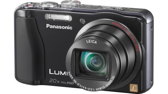 Panasonic Lumix DMC-ZS20 Front - Black