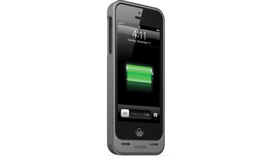 mophie juice pack helium™ Metallic black (iPhone 5 not included)