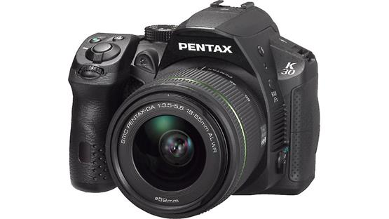 Pentax K-30 with 3X WR Zoom Lens Front (Black)
