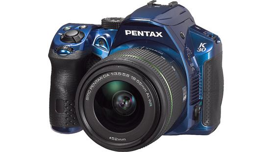 Pentax K-30 with 3X WR Zoom Lens Front (Blue)