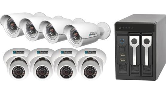 ClearView Phoenix View 8-Channel Kit Recorder with included surveillance cameras