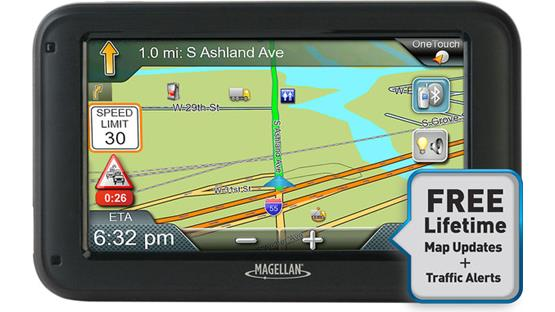 Magellan RoadMate Commercial 5370T-LMB Free traffic and map updates help you avoid traffic and save time