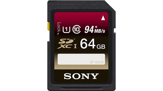 Sony SDXC Memory Card Front (64GB)