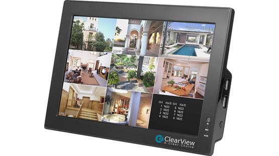 ClearView CBT-08 LCD Touchscreen DVR Combo Front