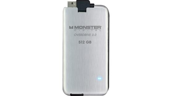 Monster Digital Overdrive™ 3.0 SSD Drive Front (512GB)