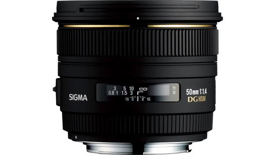 Sigma Photo 50mm f/1.4 EX DG HSM Front (Canon mount)