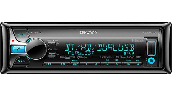 Kenwood Excelon KDC-X798 The sleek variable-color display works nicely in your dash