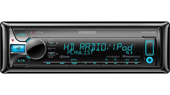 Kenwood Excelon KDC-X498 Enjoy crystal-clear HD radio, CDs, or WAV, WMA, and MP3 music files using the USB port