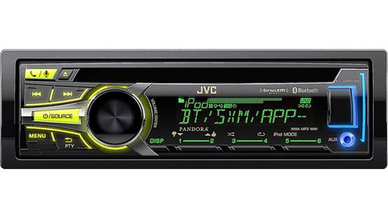 JVC Arsenal KD-AR959BS The faceplate's ergonomic design keeps the controls close to you