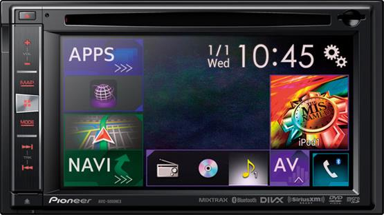 Pioneer AVIC-5000NEX The NEX interface puts all the radio's functions right at your fingertips