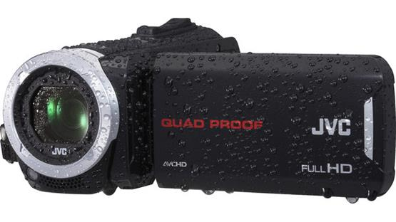 JVC GZ-R10 Keep shooting in any weather.