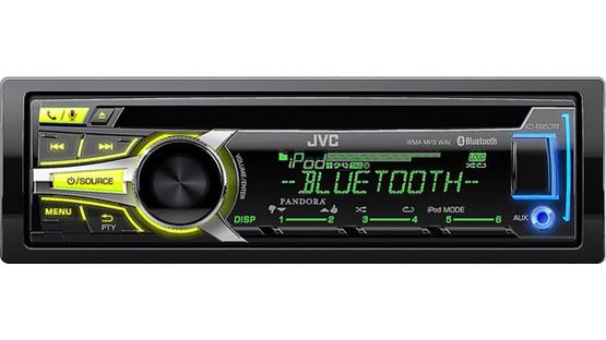 JVC KD-R950BT Customize your display colors in three zones of the JVC faceplate