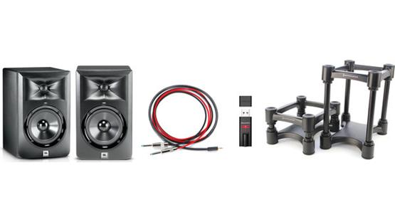 JBL LSR305/AudioQuest DragonFly® Bundle Front